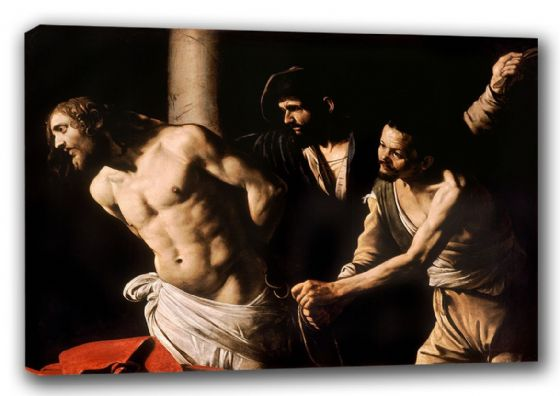 Caravaggio, Michelangelo Merisi da: Christ at the Column. Religious/Biblical Fine Art Canvas. Sizes: A3/A2/A1 (00116)